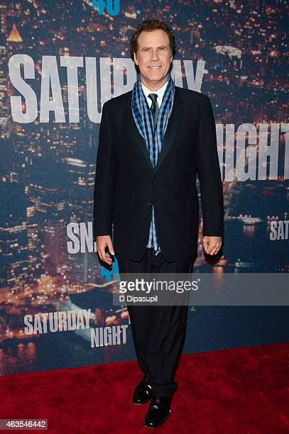 Will Ferrell attends the SNL 40th Anniversary Celebration at Rockefeller Plaza on February 15 2015 in New York City