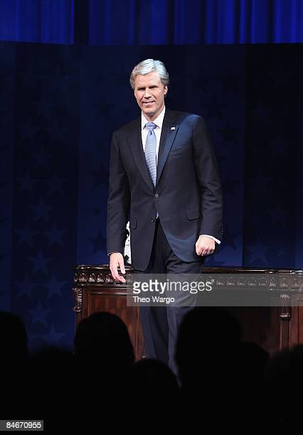 Will Ferrell during curtain call at the opening night of 'You're Welcome America A Final Night with George W Bush' at the Cort Theater on February 5...