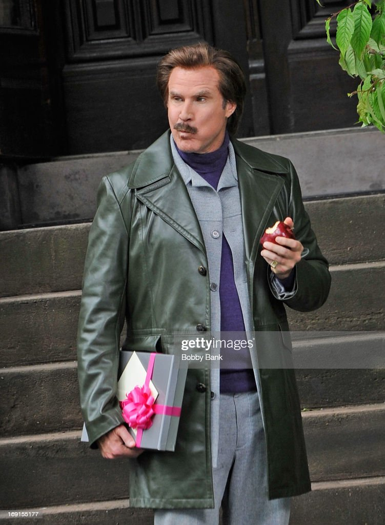 <a gi-track='captionPersonalityLinkClicked' href=/galleries/search?phrase=Will+Ferrell&family=editorial&specificpeople=171995 ng-click='$event.stopPropagation()'>Will Ferrell</a> filming on location for 'Anchorman: The Legend Continues' on May 20, 2013 in the Brooklyn borough of New York City.