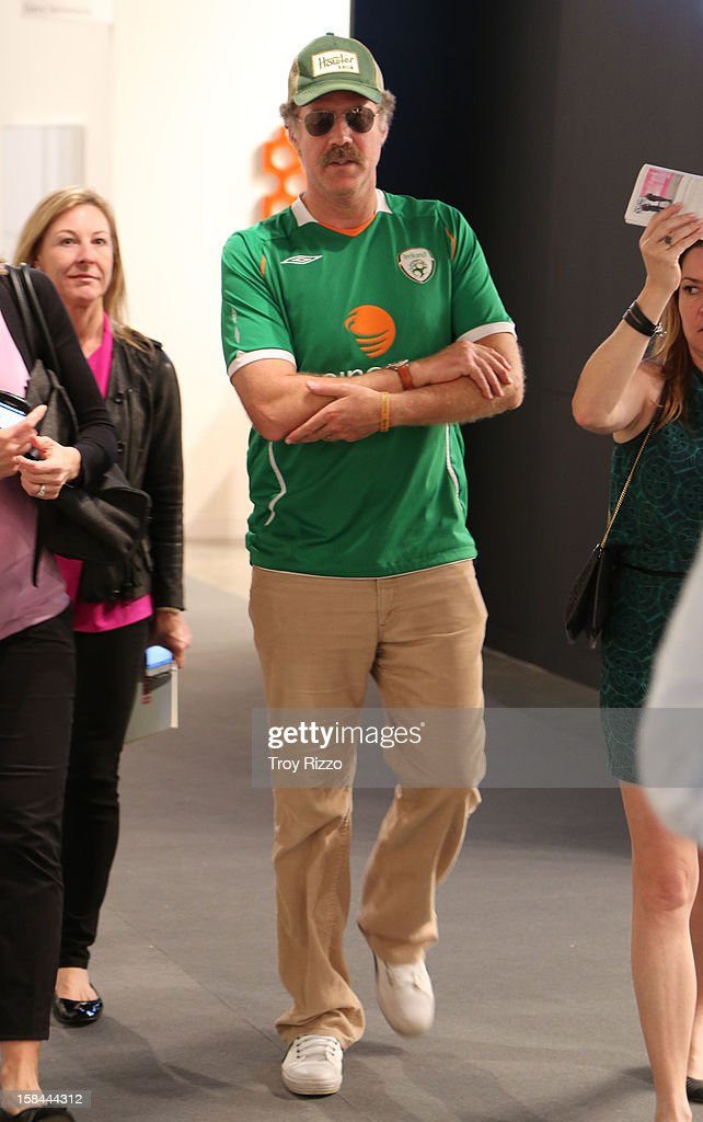 Will Ferrell is sighted during Art Basel Miami at the Miami Beach Convention Center on December 7, 2012 in Miami Beach, Florida.