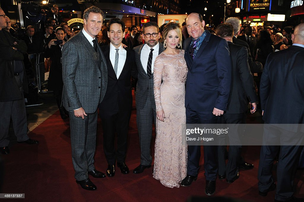 <a gi-track='captionPersonalityLinkClicked' href=/galleries/search?phrase=Will+Ferrell&family=editorial&specificpeople=171995 ng-click='$event.stopPropagation()'>Will Ferrell</a>, <a gi-track='captionPersonalityLinkClicked' href=/galleries/search?phrase=Paul+Rudd&family=editorial&specificpeople=209014 ng-click='$event.stopPropagation()'>Paul Rudd</a>, <a gi-track='captionPersonalityLinkClicked' href=/galleries/search?phrase=Steve+Carell&family=editorial&specificpeople=595491 ng-click='$event.stopPropagation()'>Steve Carell</a>, <a gi-track='captionPersonalityLinkClicked' href=/galleries/search?phrase=Christina+Applegate&family=editorial&specificpeople=171273 ng-click='$event.stopPropagation()'>Christina Applegate</a> and <a gi-track='captionPersonalityLinkClicked' href=/galleries/search?phrase=David+Koechner&family=editorial&specificpeople=804105 ng-click='$event.stopPropagation()'>David Koechner</a> attend the UK premiere of 'Anchorman 2: The Legend Continues' at The Vue West End on December 11, 2013 in London, England.