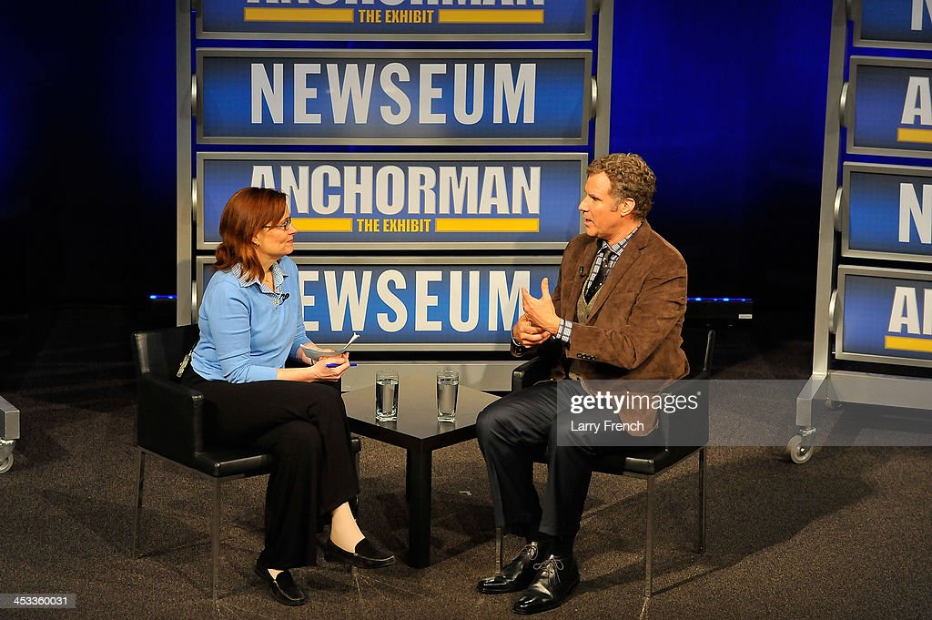 <a gi-track='captionPersonalityLinkClicked' href=/galleries/search?phrase=Will+Ferrell&family=editorial&specificpeople=171995 ng-click='$event.stopPropagation()'>Will Ferrell</a>, right, speaks with Ann Hornaday in front of a VIP Newseum audience at a special evening with the 'Anchorman' star at Annenberg Theater on December 3, 2013 in Washington, DC.