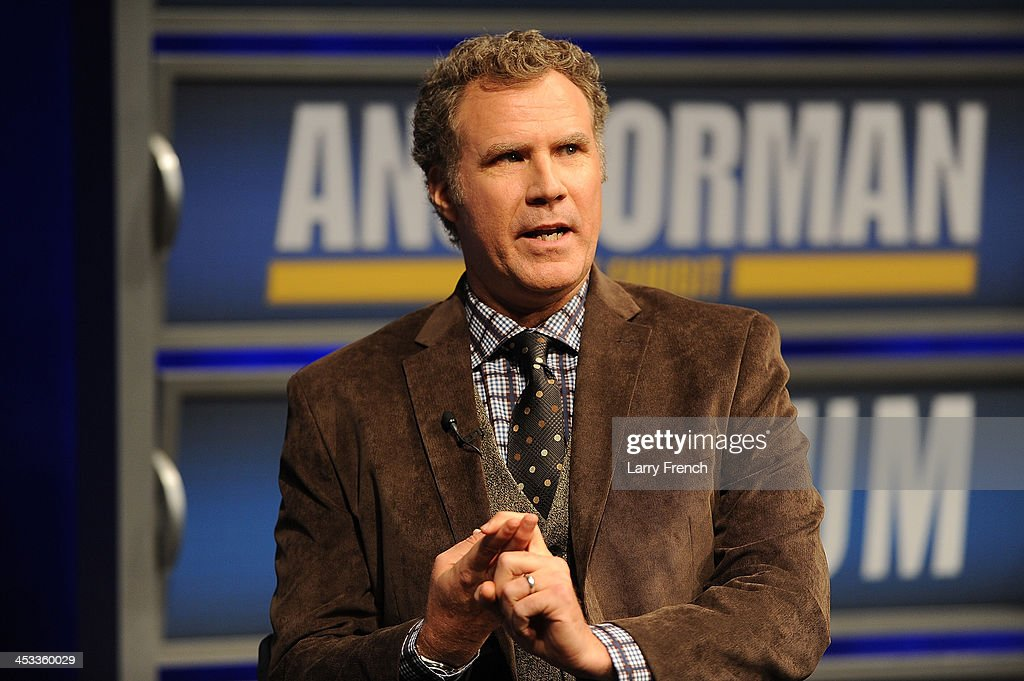 Will Ferrell speaks to a VIP Newseum audience at a special evening with the 'Anchorman' star at Annenberg Theater on December 3, 2013 in Washington, DC.