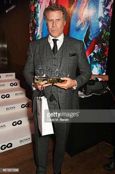 Will Ferrell winner of the Comedian of the Year award attends the GQ Men Of The Year Awards at The Royal Opera House on September 8 2015 in London...