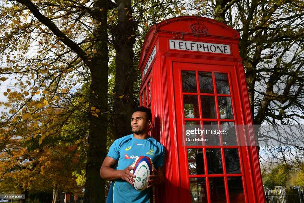 Will Genia of Australia poses for a portrait following a training session at the Lensbury Hotel on November 16, 2017 in London, England.