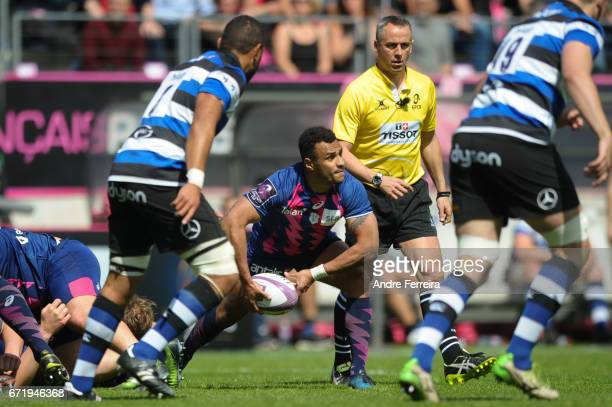Will Genia of Stade Francais during the European Challenge Cup semi final between Stade Francais and Bath on April 23 2017 in Paris France