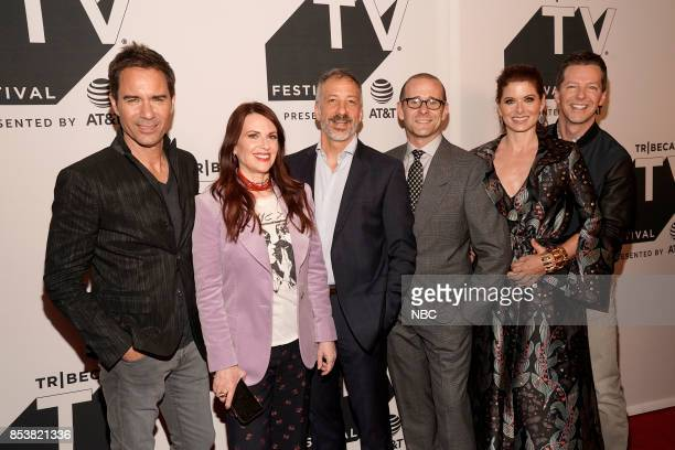 WILL GRACE Will Grace at Tribeca TV Festival Pictured Eric McCormack Megan Mullally David Kohan Max Mutchnick Debra Messing Sean Hayes