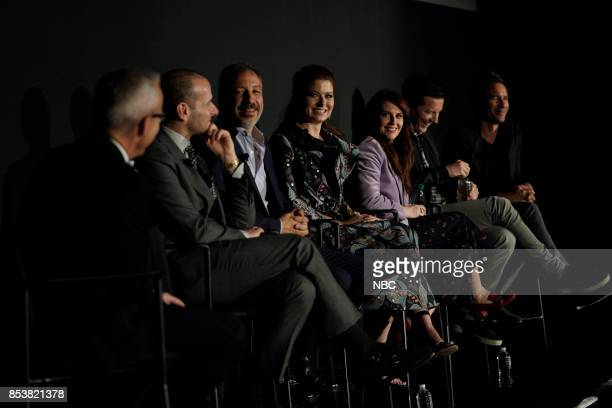 WILL GRACE Will Grace at Tribeca TV Festival Pictured Max Mutchnick David Kohan Debra Messing Megan Mullally Sean Hayes Eric McCormack