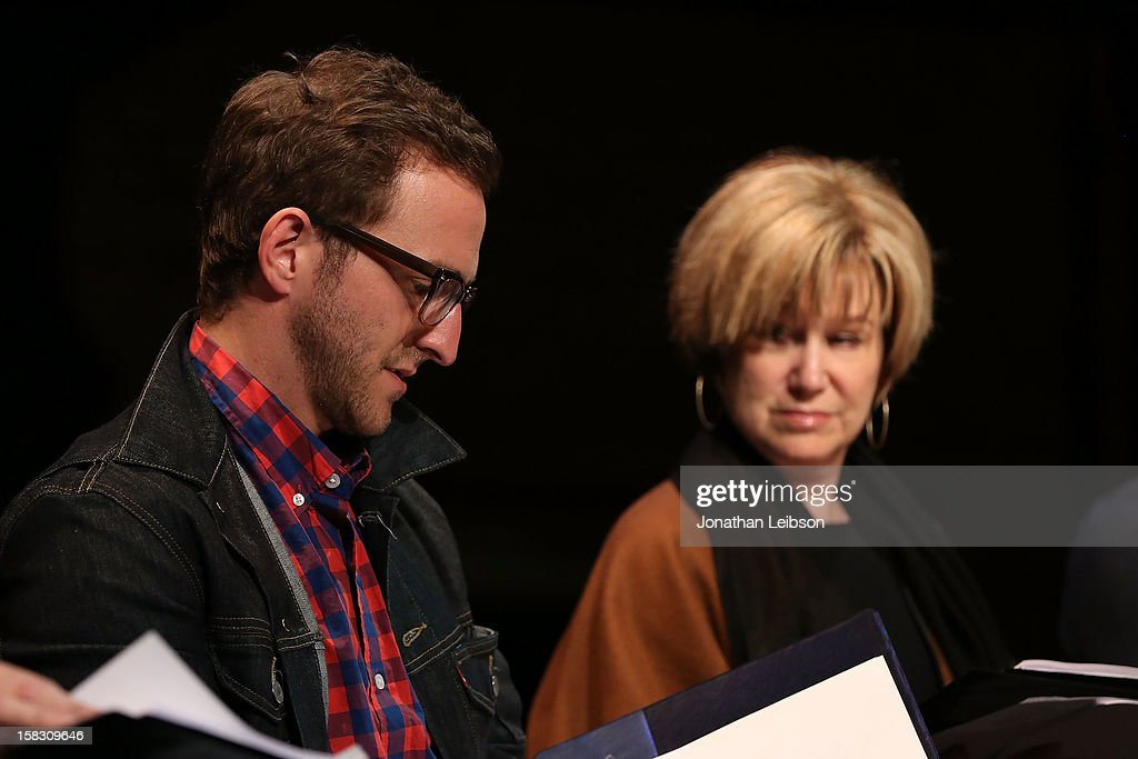 Will Greenberg and <a gi-track='captionPersonalityLinkClicked' href=/galleries/search?phrase=Mary+Kay+Place&family=editorial&specificpeople=225092 ng-click='$event.stopPropagation()'>Mary Kay Place</a> attend The Sundance Institute Feature Film Program Screenplay Reading Of 'Life Partners' by lab fellows Susana Fogel and Joni Lefkowitz at Actors' Gang at the Ivy Substation on December 12, 2012 in Culver City, California.