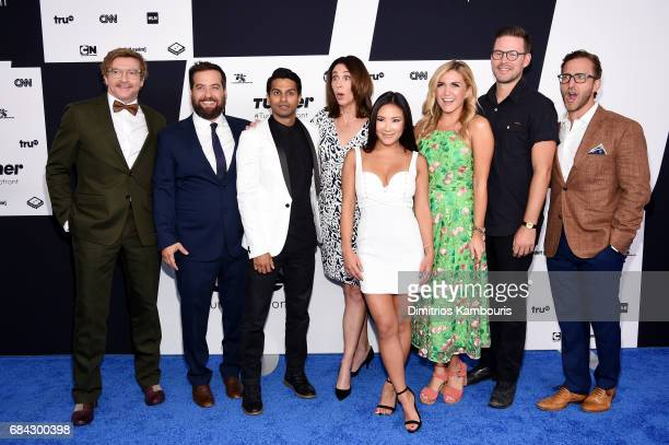 Will Greenberg Brian Sacca Asif Ali Brooke Dillman Ally Maki Jessica Lowe Zach Cregger and Will Greenberg attend the Turner Upfront 2017 arrivals on...