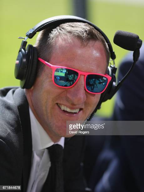 Will Greenwood the former England international now Sky Sport rugby presenter soaks up the sun prior to the European Rugby Champions Cup semi final...