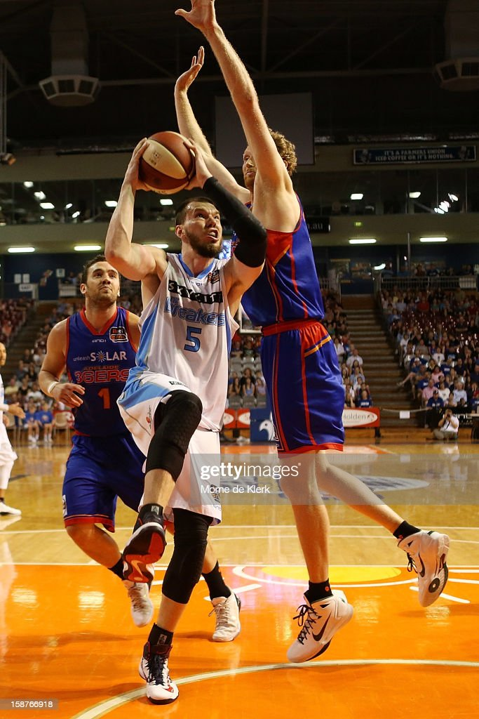 Will Hudson of the Breakers goes for the basket during the round 12 NBL match between the Adelaide 36ers and the New Zealand Breakers at Adelaide Arena on December 28, 2012 in Adelaide, Australia.