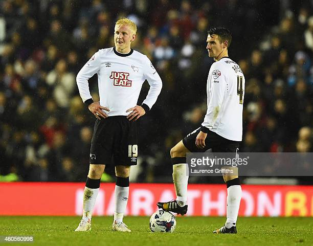 Will Hughes and Craig Bryson of Derby look dejected during the Capital One Cup QuarterFinal match between Derby County and Chelsea at Pride Park...