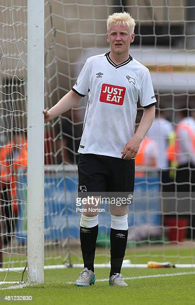 Will Hughes of Derby County in action during the PreSeason Friendly match between Northampton Town and Derby County at Sixfields Stadium on July 18...