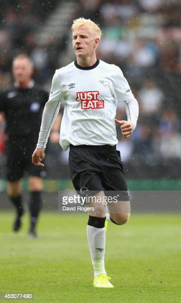 Will Hughes of Derby looks on during the pre season friendly match between Derby County and Rangers at iPro Stadium on August 2 2014 in Derby England