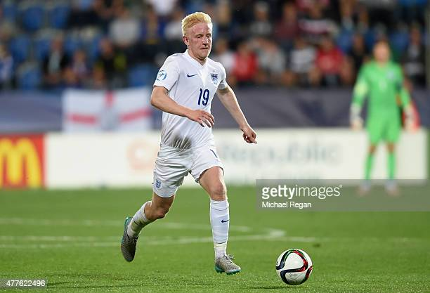 Will Hughes of England action during the UEFA Under21 European Championship 2015 Group B match between England and Portugal at Mestsky Fotbalovy...