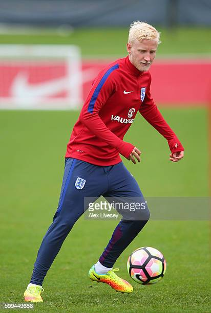 Will Hughes of England U21's during a training session at St Georges Park on September 5 2016 in BurtonuponTrent England