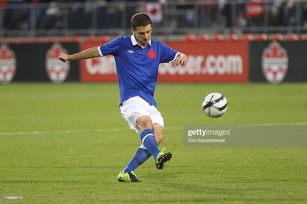 Will Johnson of Canada shoots against USA during their international friendly match on June 3 2012 at BMO Field in Toronto Ontario Canada
