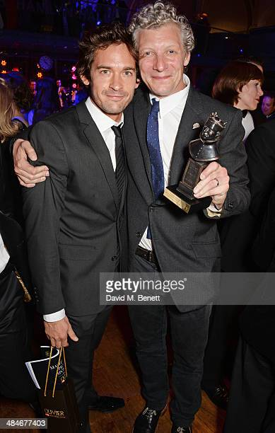 Will Kemp and Will Tuckett attend an after party following the Laurence Olivier Awards at The Royal Opera House on April 13 2014 in London England