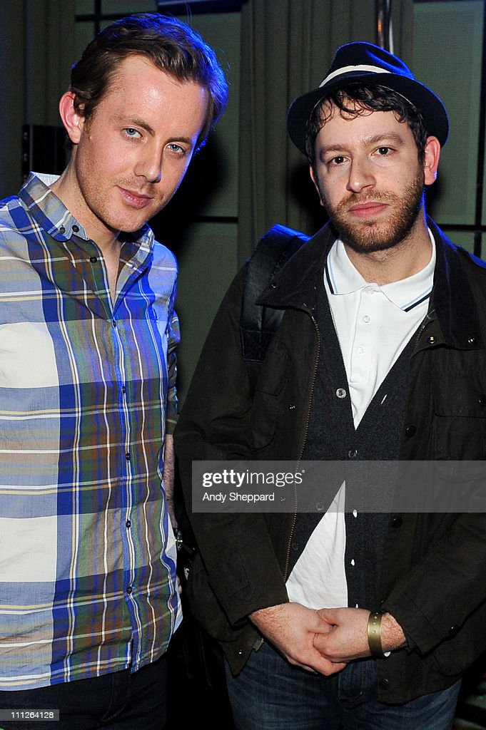 Will Kennard and Saul Milton of Chase Status pose for photos during the Celebration of Pete Tong 20th Anniversary recording for BBC Radio 1 at BBC...