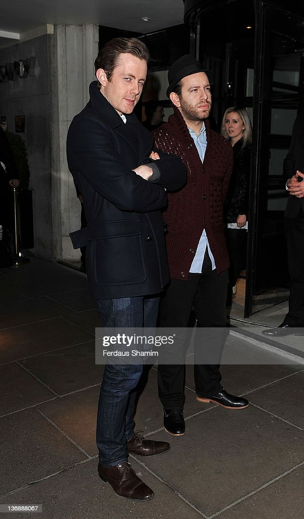Will Kennard and Saul Milton of ChaseStatus attend the shortlist announcement of The BRIT Awards 2012 at The Savoy Hotel on January 12 2012 in London...