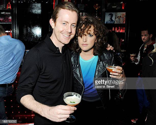 Will Kennard of Chase and Status and Annie Mac attends the launch of The Vinyl Collection curated by Annie Mac and the AMP 2013 album at W London...