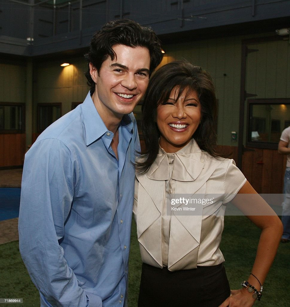 Will Kirby and host Julie Chen pose at 'Big Brother 7 AllStars' at CBS Radford on September 12 2006 in Los Angeles California