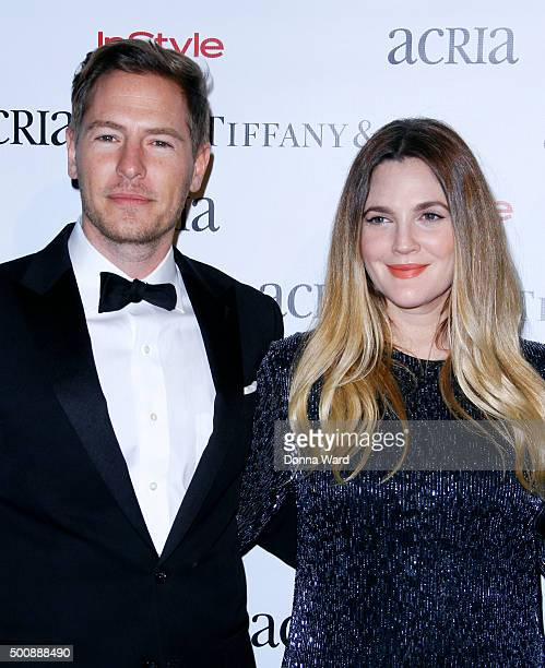 Will Kopleman and Drew Barrymore attend the ACRIA's 20th Anniversary Holiday Dinner at The Cunard Building on December 10 2015 in New York City