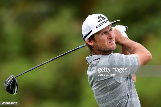 Will MacKenzie plays his tee shot on the 12th hole during the third round of the Puerto Rico Open at Coco Beach on March 25 2017 in Rio Grande Puerto...