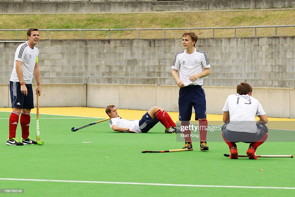 Will Members of the Great Britain team look dejected after the Gold Medal match against Australia during day five of the Australian Youth Olympic Festival at Sydney Olympic Park Hockey Centre on January 20, 2013 in Sydney, Australia.