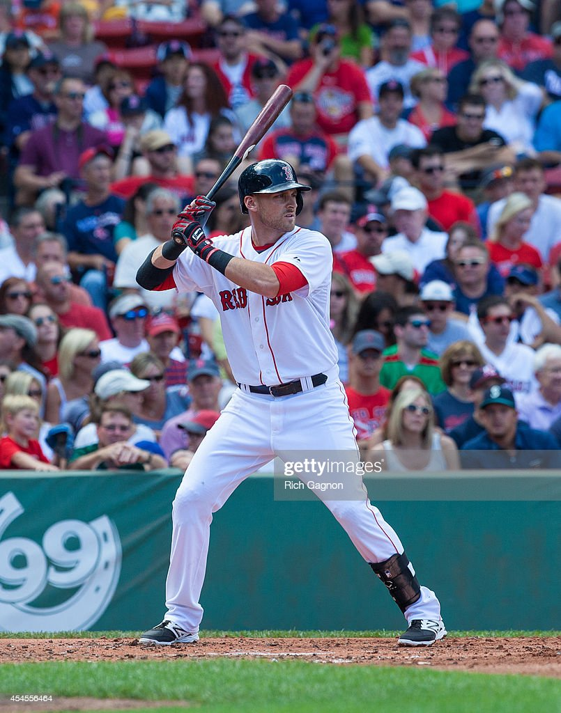 <a gi-track='captionPersonalityLinkClicked' href=/galleries/search?phrase=Will+Middlebrooks&family=editorial&specificpeople=7934204 ng-click='$event.stopPropagation()'>Will Middlebrooks</a> #16 of the Boston Red Sox bats against the Seattle Mariners during the first inning at Fenway Park on August 23, 2014 in Boston, Massachusetts. The Mariners won 7-3.