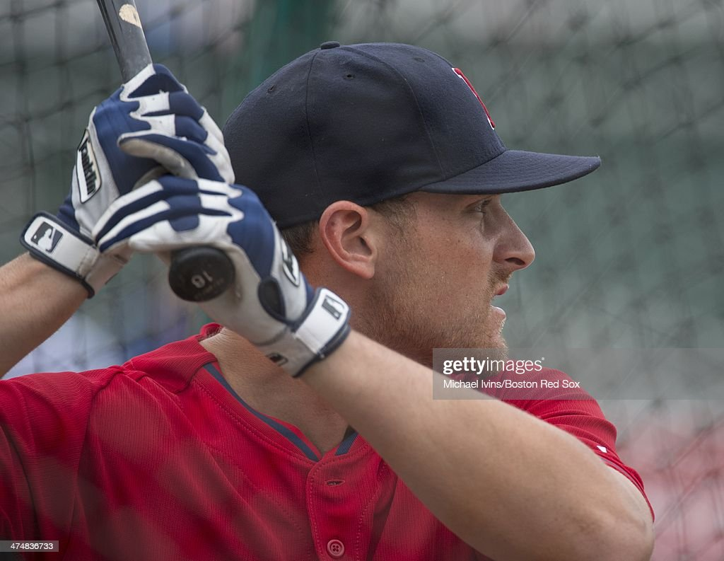 <a gi-track='captionPersonalityLinkClicked' href=/galleries/search?phrase=Will+Middlebrooks&family=editorial&specificpeople=7934204 ng-click='$event.stopPropagation()'>Will Middlebrooks</a> #16 of the Boston Red Sox takes batting practice during a Spring Training workout at Fenway South on February 25, 2014 in Fort Myers, Florida.
