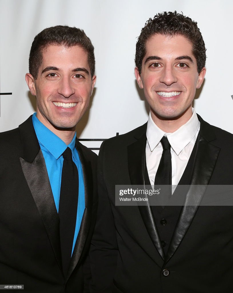 Will Nunziata and Anthony Nunziata backstage before performing 'Broadway, Our Way' at 54 Below on January 9, 2014 in New York City.