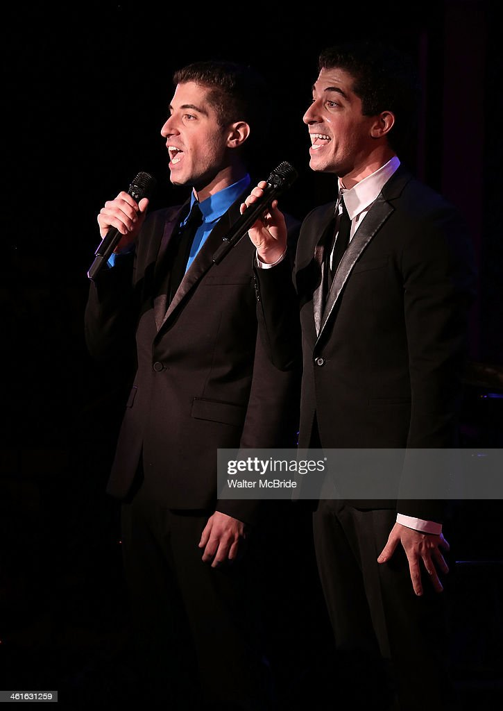 Will Nunziata and Anthony Nunziata Perform 'Broadway, Our Way' at 54 Below on January 9, 2014 in New York City.