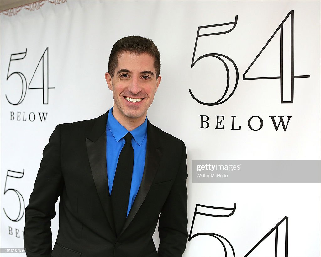 Will Nunziata backstage before performing 'Broadway, Our Way' at 54 Below on January 9, 2014 in New York City.