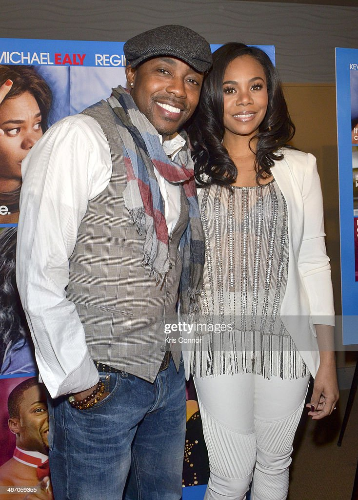 Will Parker and <a gi-track='captionPersonalityLinkClicked' href=/galleries/search?phrase=Regina+Hall&family=editorial&specificpeople=4509171 ng-click='$event.stopPropagation()'>Regina Hall</a> walk the red carpet and speak with members of the press during the Washington DC screening of 'About Last Night' at AMC Mazza Gallerie 14 on February 5, 2014 in Washington, DC.