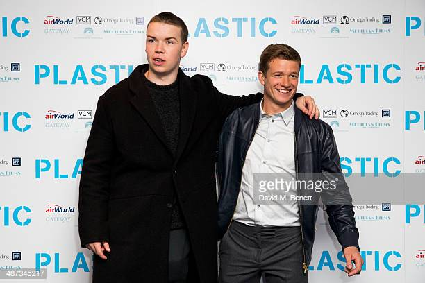 Will Poulter and Ed Speleers attend the UK Premiere of 'Plastic' at the Odeon West End on April 29 2014 in London England