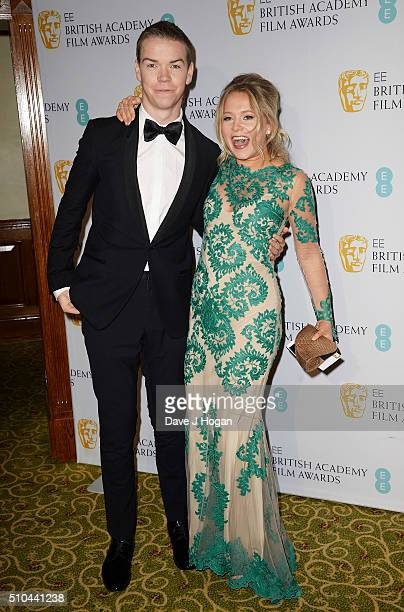 Will Poulter and Poppy Jamie attend the official After Party Dinner for the EE British Academy Film Awards at The Grosvenor House Hotel on February...