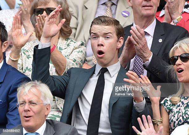 Will Poulter attends day two of the Wimbledon Tennis Championships at Wimbledon on June 28 2016 in London England