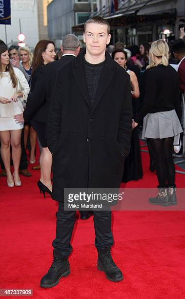 Will Poulter attends the UK Premiere of 'Plastic' at Odeon West End on April 29 2014 in London England