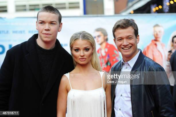 Will Poulter Emma Rigby and Ed Speleers attend the UK premiere of 'Plastic' on April 29 2014 in London England