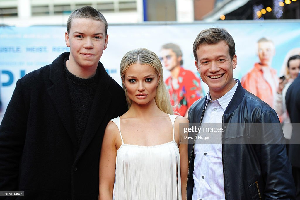 <a gi-track='captionPersonalityLinkClicked' href=/galleries/search?phrase=Will+Poulter&family=editorial&specificpeople=4599059 ng-click='$event.stopPropagation()'>Will Poulter</a>, <a gi-track='captionPersonalityLinkClicked' href=/galleries/search?phrase=Emma+Rigby&family=editorial&specificpeople=4304830 ng-click='$event.stopPropagation()'>Emma Rigby</a> and Ed Speleers attend the UK premiere of 'Plastic' on April 29, 2014 in London, England.