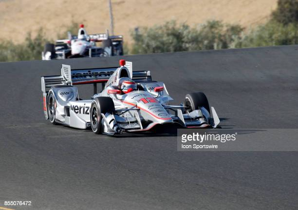 Will Power leads his teammate Helio Castroneves into Turn 6 at the GoPro Grand Prix of Sonoma in Sonoma CA