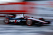 Will Power of Australia driver of the Verizon Team Penske Chevrolet drives during qualify for the Verizon IndyCar Series Firestone Grand Prix of St...