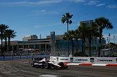 Will Power of Australia driver of the Verizon Team Penske Chevrolet drives in the Verizon IndyCar Series Firestone Grand Prix of St Petersburg at the...