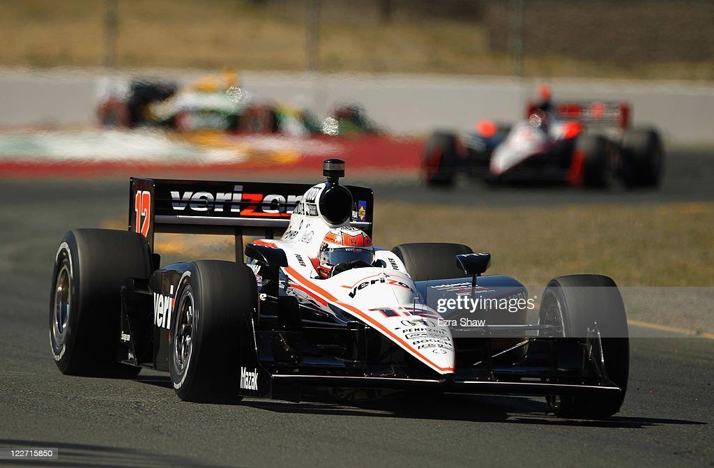 Will Power of Australia, driver of the #12 Verizon Team Penske Dallara Honda, races in the IZOD IndyCar Series Indy Grand Prix of Sonama race at Infineon Raceway on August 28, 2011 in Sonoma, California.