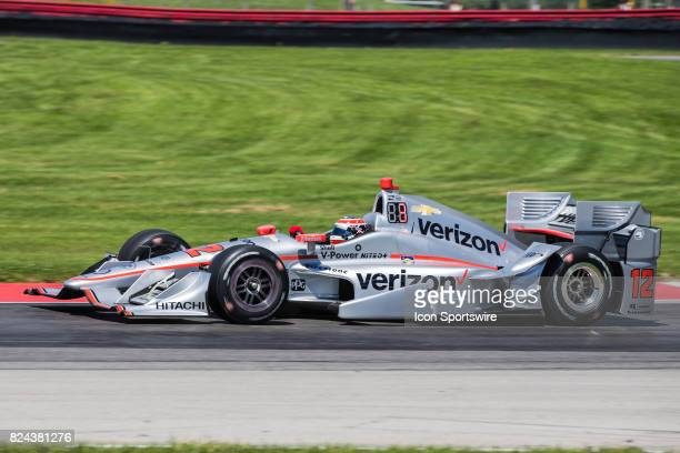 Will Power of Australia drives the Chevrolet IndyCar for Team Penske during qualifying for the Verizon IndyCar Series Honda Indy 200 at MidOhio on...