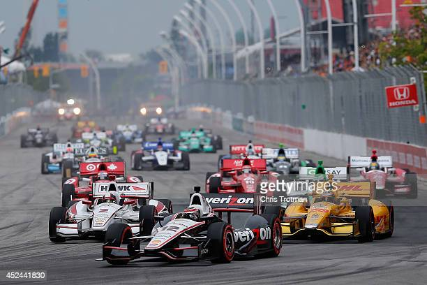 Will Power of Australia drives the Team Penske Chevrolet during the Verizon IndyCar Series Honda Indy Toronto Race 2 on the Streets of Toronto on...