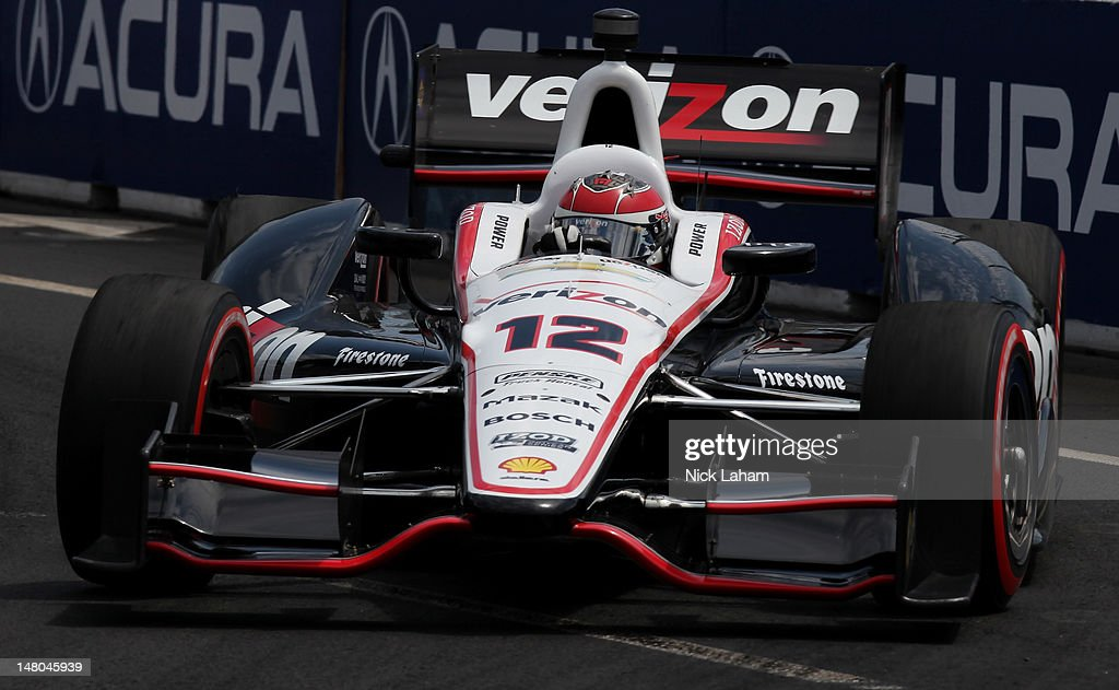 Will Power of Australia, drives the #12 Verizon Team Penske Chevrolet during the IZOD INDYCAR Series Honda Indy Toronto on July 8, 2012 in Toronto, Canada.