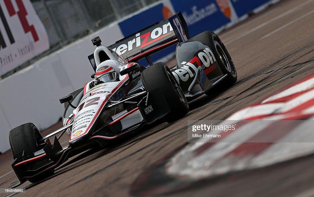 Will Power of Australia, drives the #12 Verizon Team Penske Dallara Chevrolet for the Honda Grand Prix of St. Petersburg on March 24, 2013 in St Petersburg, Florida.